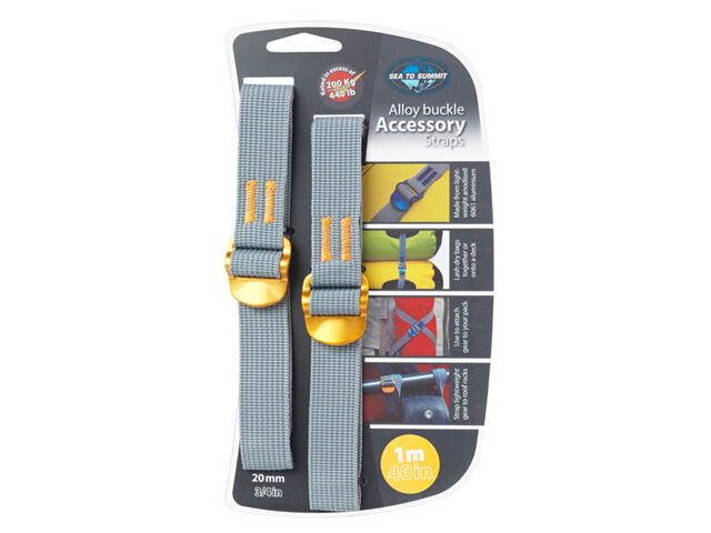 Sea to Summit Alloy Buckle Accessory Straps - Sangle - 20mm/1m jaune